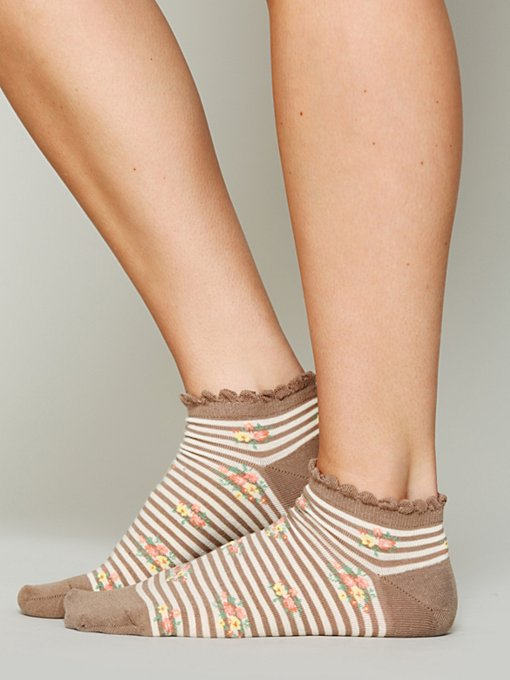 Striped Garden Anklet in womens-ankle-socks