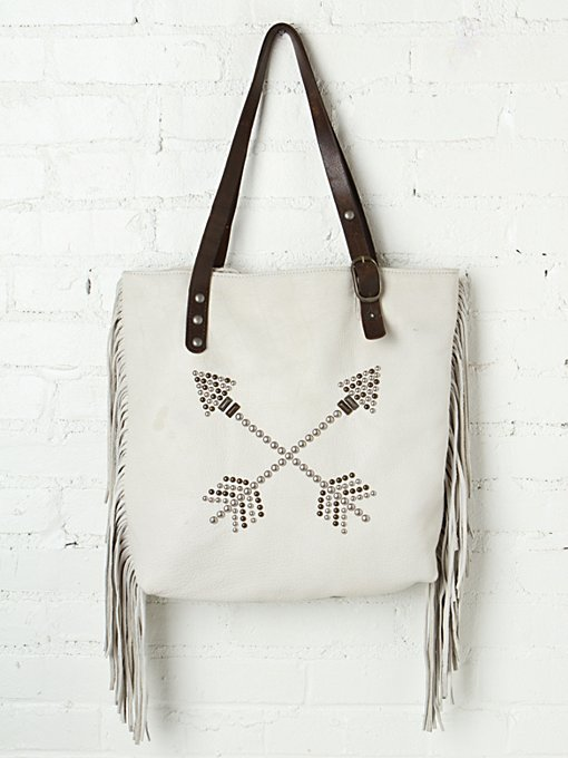 Arrow Fringe Tote in accessories-bags-shop-by-shape