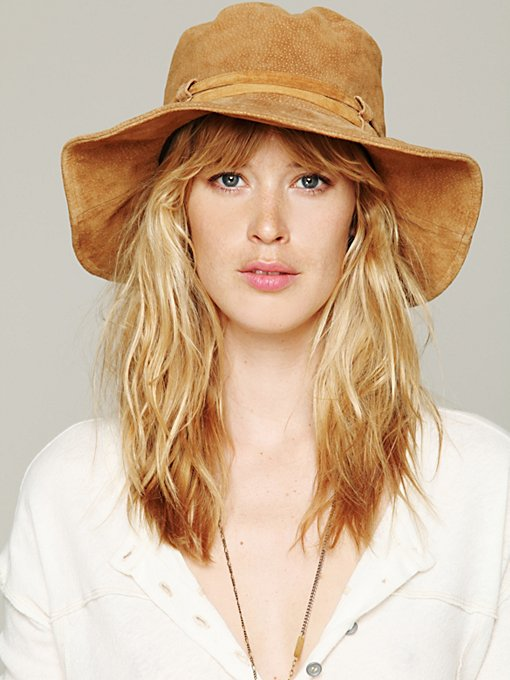 Suede Floppy Hat in Hats