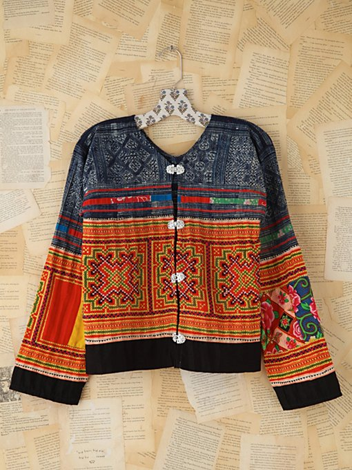 Free People Vintage Thai Embroidered Jacket in vintage-jackets
