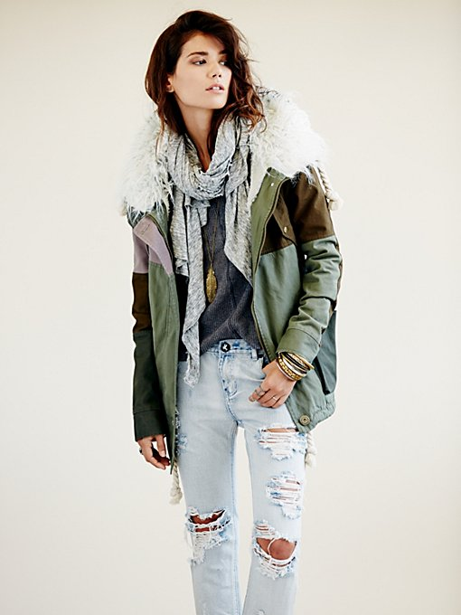 One Teaspoon  Patchwork Parka in Coats