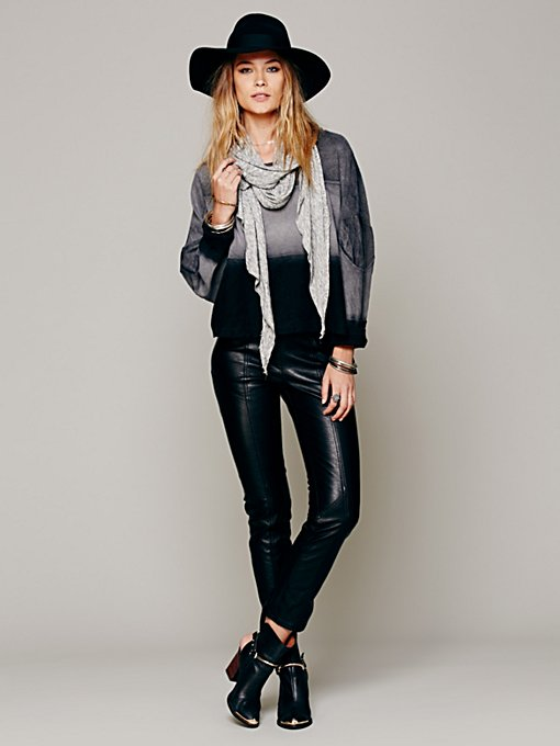 Vegan Seamed Skinny  in