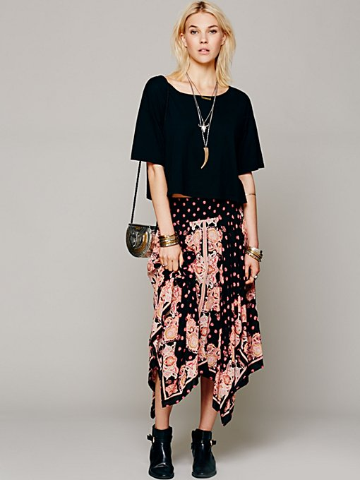 Free People Printed Fly Away Skirt