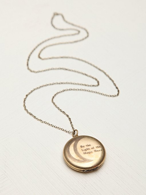 Light of the Magic Hour Locket in necklaces
