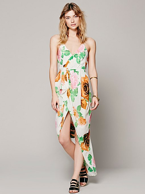 Shakuhachi Cami Petal Wrap Dress in Dresses