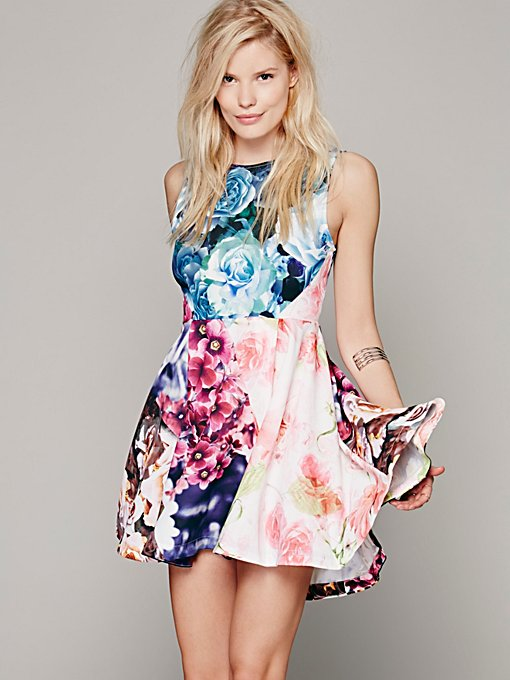 Shakuhachi Flower Bomb Kickout Dress in Dresses