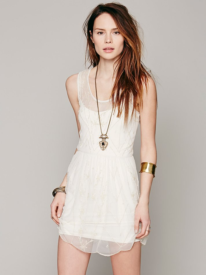 Free People Intimately Starry Night Slip | Pinterest Picks - Free People White Dresses