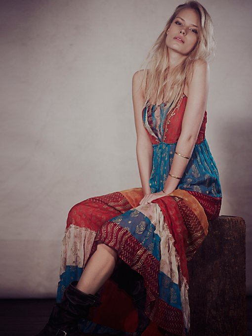 Free People Gilded Caravan Maxi in Dresses