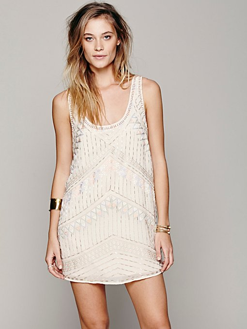 Free People Tribal Arrows Embellished Shift in Dresses