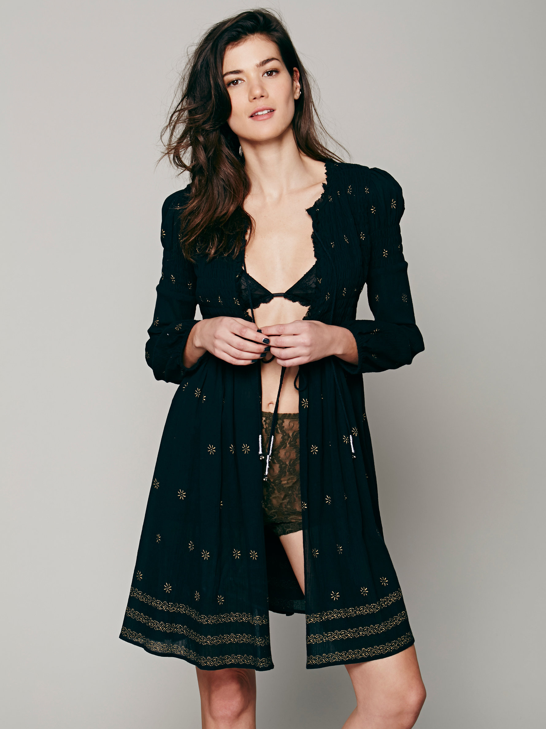 Free People Shayanti Smocked Robe | Fancy Friday - The Cost of Comfort - Cute Loungewear