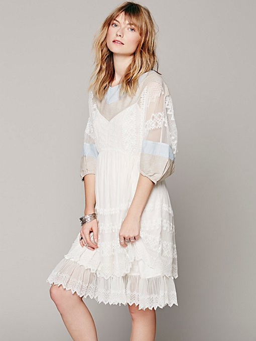 Free People FP New Romantics 9 to 5 Patchwork Dress in Dresses