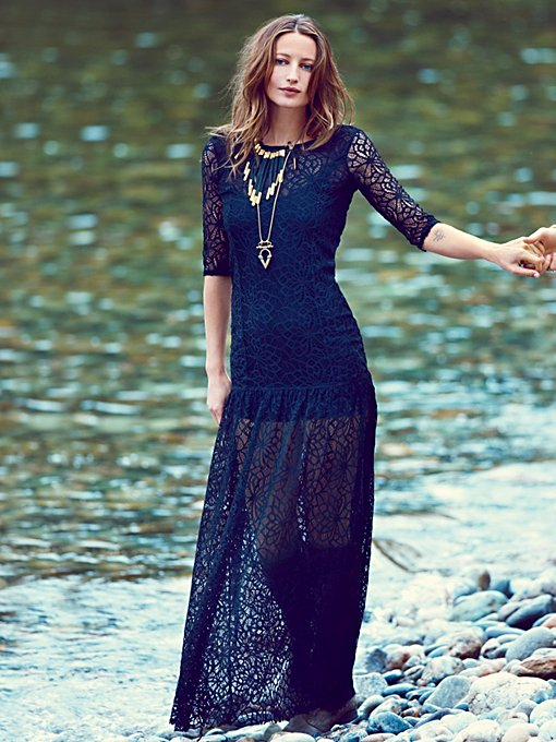 Gossamer Maxi Slip in clothes-dresses