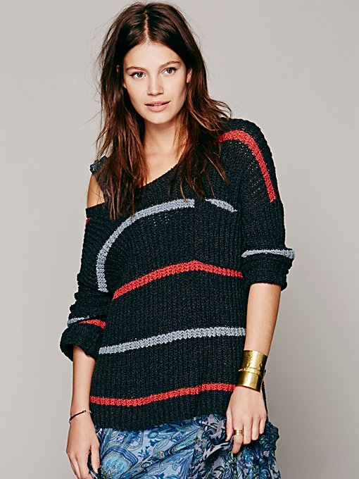 Free People Complete In Stripes Pullover