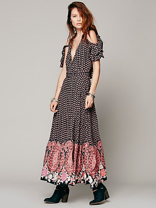 Free People Wrapped Paisley Dress in Dresses