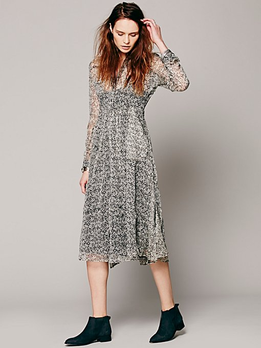 Free People Buttondown Dress in Dresses