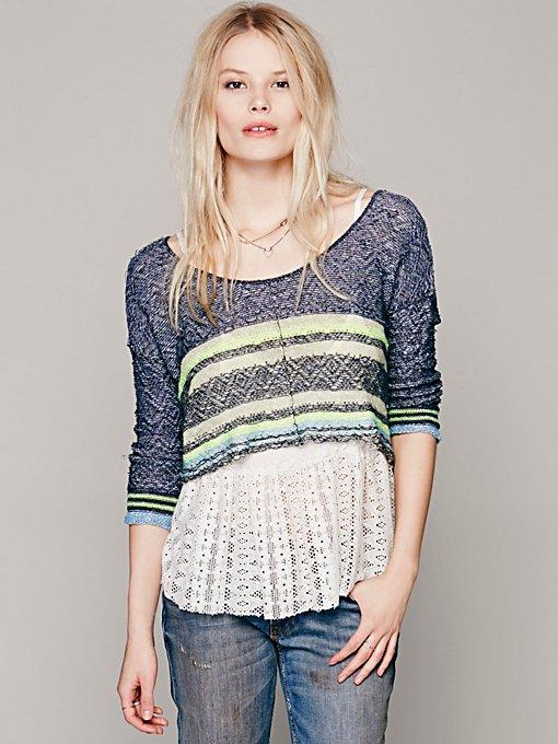 Free People Stripe Sweater 2fer