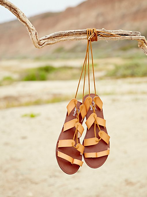 Vegan Tie Up Sandal