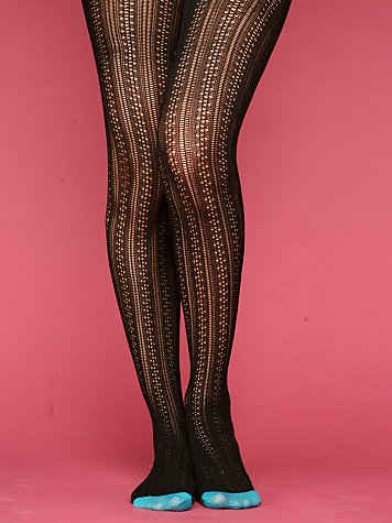 Patterned Pointelle Tights