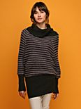 --Mixed Stripes Cowlneck